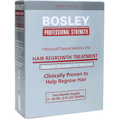 Bosley Hair Regrowth Treatment Minoxidil Solution 2% for Women - NEW in BOX