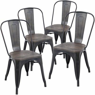 Astonishing Poly And Bark Trattoria Side Chair In Bronze Set Of 4 Bralicious Painted Fabric Chair Ideas Braliciousco
