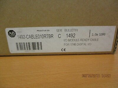 New Allen-Bradley 1492-CABLE010RTBR Series C I/O Module Ready Cable