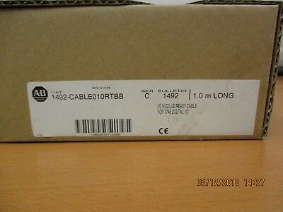 New Allen-Bradley 1492-CABLE010RTBB Series C I/O Module Ready Cable