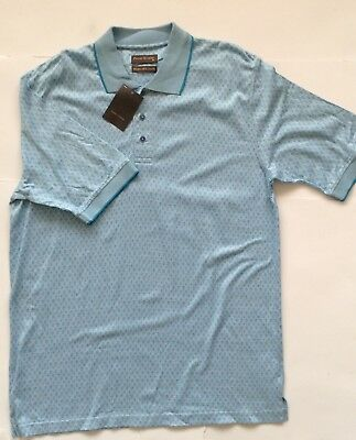 Peter gribby COTON//LIN Turquoise à Rayures Chemise à manches courtes 2XL3XL4XL5XL6XL7XL8XL