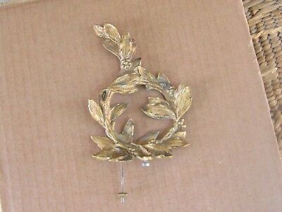 ANTIQUE FRENCH MANTEL CLOCK BRONZE TOP/FINIAL ORNAMENT-19th c