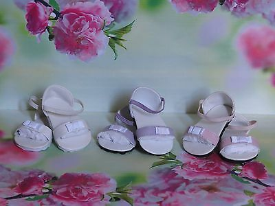 3 Prs Shoes To Fit The American Galoob Baby Face Girl Pink/purple/white Sandals