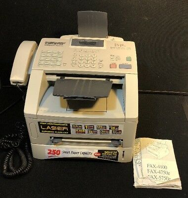 BROTHER INTELLIFAX 4100e BUSINESS CLASS LASER FAX TELEPHONE COPIES