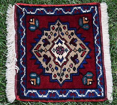 Doormat Vintage Turkish Oushak Anatolian Small Size Table Wall Decor Rug 12x14in