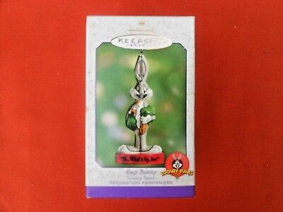 HALLMARK 2000 EASTER LOONEY TUNES Bugs Bunny WHAT'S UP SPRING TIN ORNAMENT-NIB