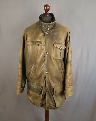 Barbour Leather Jacket Coat Mens Size L/XL