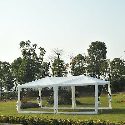 Outsunny 10ft x 20ft Canopy Gazebo Party Tent w/ Mesh Side Walls