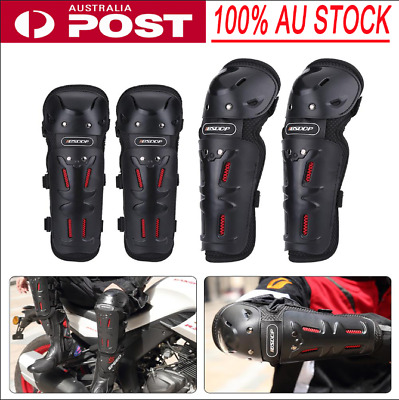 4Pcs Motorcycle Elbow Knee Pad Brace Motocross Cycling Protector Gear Shin Guard