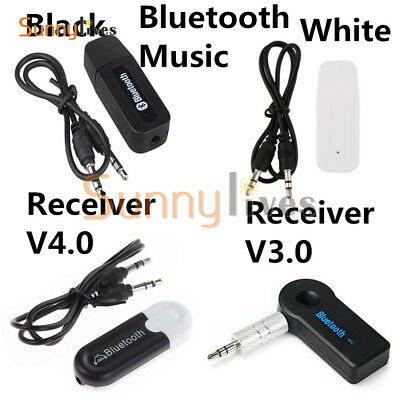 Bluetooth 3.5mm AUX Audio Stereo Music Home Car Receiver Adapter 3.0/4.0