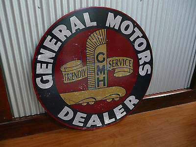 Large Round General Motors Dealer Metal sign Holden GMH Man cave bar Garage