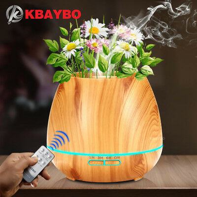 KBAYBO 550ml Aroma Essential Oil Diffuser Ultrasonic Air Humidifier with Wood