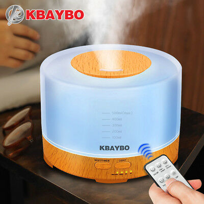 KBAYBO Essential Oil Diffuser 500ml remote control Aroma mist Ultrasonic Air