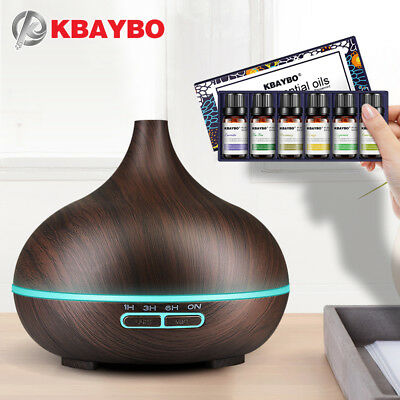KBAYBO Aroma Air Humidifier Essential air diffuser wood Air Purifier cool Mist