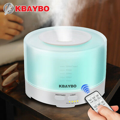 KBAYBO Aroma Ultrasonic air Humidifier 500ml Remote Control Essential Oil