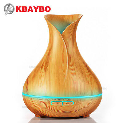 400ml Aroma Essential Oil Diffuser Ultrasonic Air Humidifier with Wood Grain 7