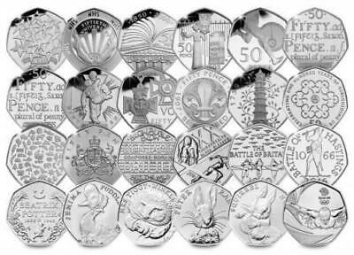 1992 - 2018 UK Rare Commemorative 50p Coins Circulated Coin Hunt