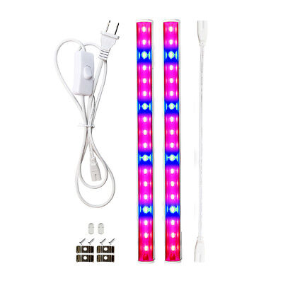 2pcs LED Plant Grow light Strip Tube with Switch Cable Hydroponic Plants Shelf