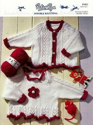 "Peter Pan-P.963  ""COPY""  Baby / Child Clothes Knitting Pattern  0-6mths / 4-5 yr"