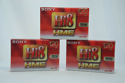 3x SONY E5-120HME3 120 PAL Hi8 & DIGITAL 8 VIDEO CAMCORDER TAPES CASSETTES NEW