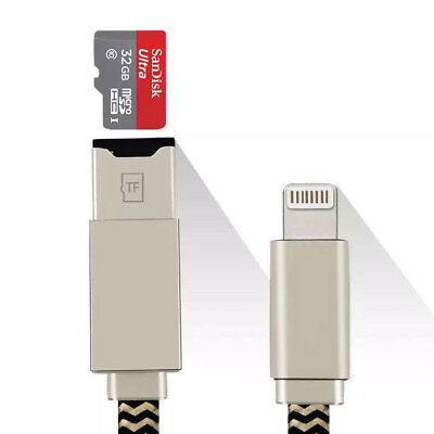 USB U Disk Flash Drive Card Reader Data Cable For iPhone IOS 5S 6S 7 8 Plus iPad