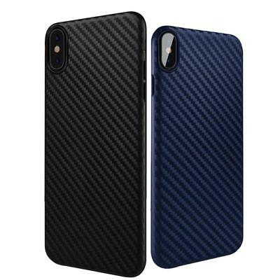 Case For iPhone Xs Max X 8 Shockproof Anti-Slip Soft TPU Carbon Fiber Cover Slim