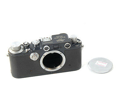 Ex+ Leica IIIC K grey paint Camera Body made in 1941-42