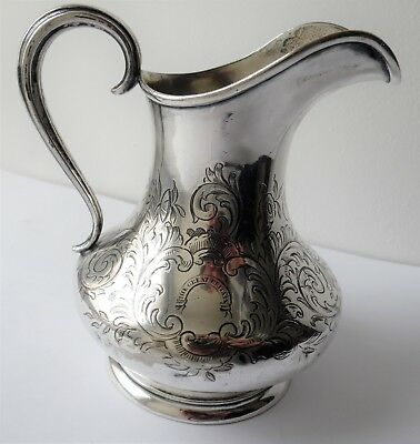 Antique 1852 Silver Plated Elkington & Co 'the Great Britain' Scroll Design Jug