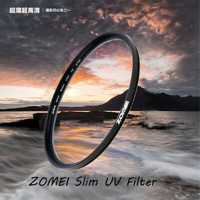55/58/62/67/77/82mm ZOMEI Slim-UV Camera Lens Filters For Canon Pentax Nikon AU