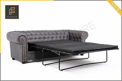 ASTOR Chesterfield Sofa Bed, 3 Seater, 2 Seater, Armchair, vintage, retro-brown