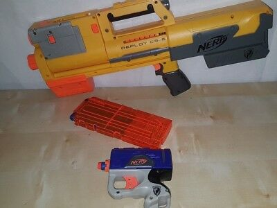 Nerf DEPLOY CS Gun with 12 Darts & Pack + Nerf N-Strike Pistol