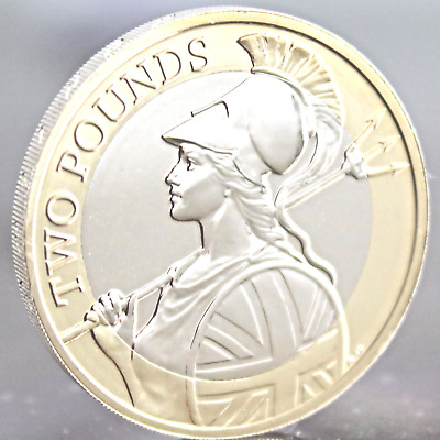 Nearly UNCIRCULATED 2016 Royal Mint Britannia Definitive £2 Two Pound Coin RARE