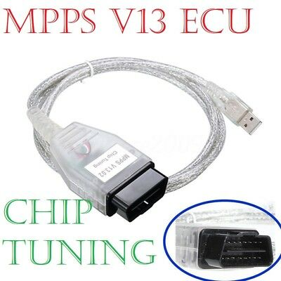 MPPS V13 Chip-Tuning VAG OBD2 Car ECU Program Diagnostic Cable Scanner Tool