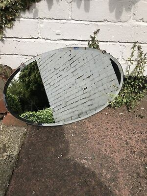 Oval Frameless Mirror Frameless Art Deco Mirror With Scratches