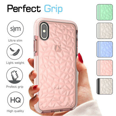 Ultra Thin Shockproof TPU Rubber Clear Back Case Cover For iPhone 6S 7 8/XS Max