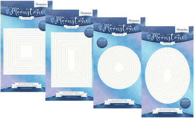 Hunkydory Moonstone Nesting Die Sets ALL 4 - Rectangles Squares Circles & Ovals