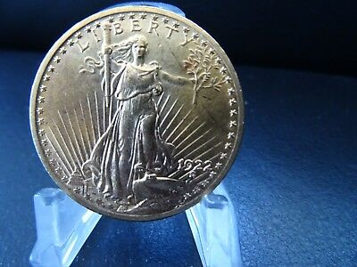 Goldmuenze Gold Muenze 20 Dollars St. Saint Gaudens 1922 Double Eagle  Liberty