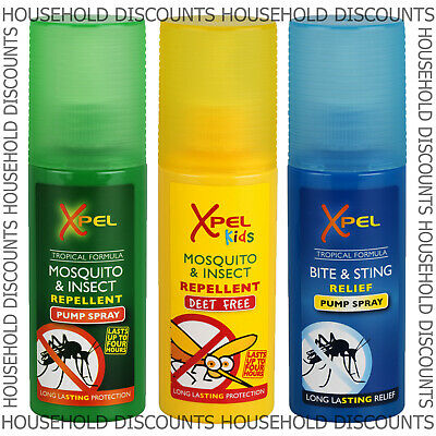 1 X Xpel Mosquito Insect Bite Sting Repellent Relief Pump Spray Travel Holiday