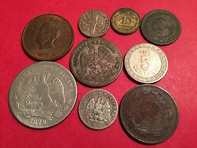 old Mexico/Mexican coin collection, lots of Republic silver,, LotG