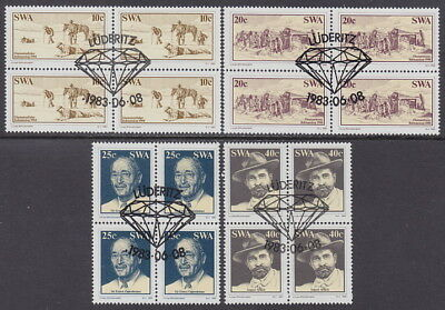 SOUTH WEST AFRICA - 1983 Discovery of Diamonds - Blocks of 4 (4v) - Used