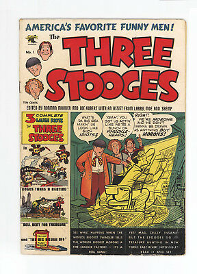 Three Stooges #1 - Very Scarce Key Golden Age - Great Cover & Art - 1953