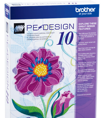 Brother PE Design 10 Embroidery Full Software - Free Gifts.