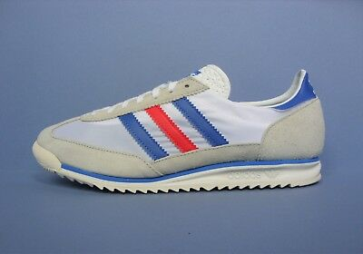 Adidas Vintage Retro Sneakers Trainers White Blue Red