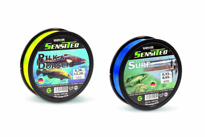 (0,01 €/ M) Sensitec Target Fish Line Monofilament Fishing 300m Cod