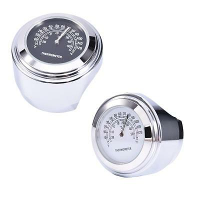 """1pc Motorcycle 7/8'' or 1"""" Handlebar Mount Clock Watch Thermometer Gauge"""