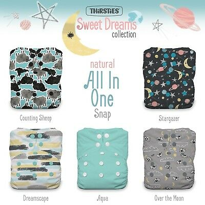 Thirsties TNATOSAIOPSSD Package Snap Natural One Size All In One Sweet Dreams...