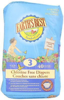 Earth's Best Chlorine Free Diapers - Stage 3 40 Count