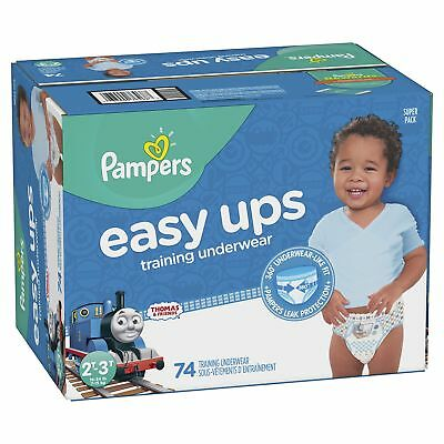 Pampers Easy Ups Pull On Disposable Training Diaper for Boys, Size 4 (2T-3T),...