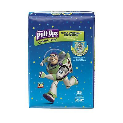 PULL-UPS NIGHT-TIME Training Pants Boy (35 Count) 3T-4T, 35-Count