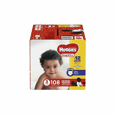 HUGGIES Snug & Dry Diapers, Size 3, 108 Count